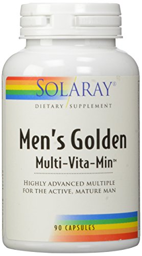 Solaray Men's Golden Multi-Vitamin Capsules, 90 (Best Solaray Multivitamin)