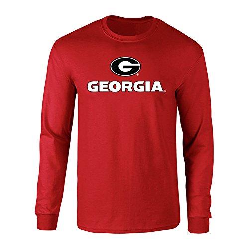 Elite Fan Shop Georgia Bulldogs Long Sleeve Tshirt Arch Red - 2XL