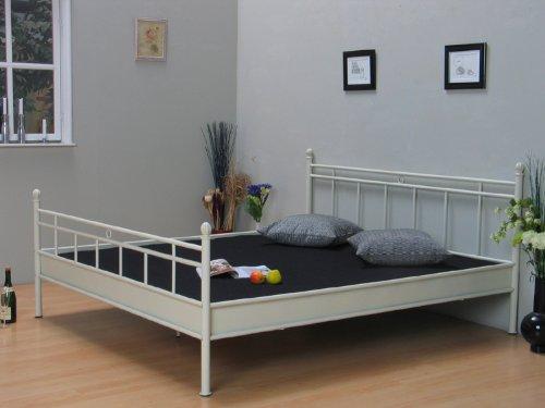 metall bett 140x200 doppelbett ehebett jugendbett metallbett bettgestell im landhaus stil bettmix. Black Bedroom Furniture Sets. Home Design Ideas