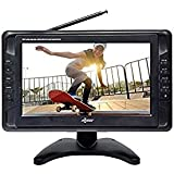 "Portable TV 10"" Battery Powered Widescreen LCD Small TV Axess TV1703-10 with ATSC Digital Tuner 2 Antennas, USB/SD Card…"