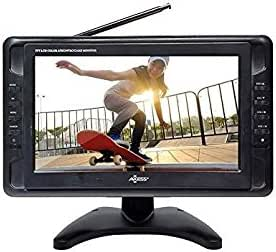 "Portable TV 10"" Battery Powered Widescreen LCD Small TV Axess TV1703-10 with ATSC Digital Tuner 2 Antennas, USB/SD Card & Headphone Inputs, AV Inputs & Full Func. Remote. Mini TV For Car, RV, Outdoor."