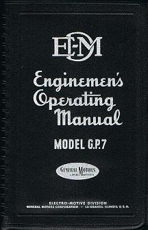 Electro-Motive Enginemen's Diesel Locomotive Operating Manual No. 2312 for Model GP7 with Vapor Car Steam Generator