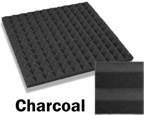 48 pack of 12 x 12 x 1 inch acoustical pyramid foam panel for Foam panel house