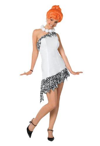 The Flintstones Wilma Flintstone Teen Costume, White, Teen