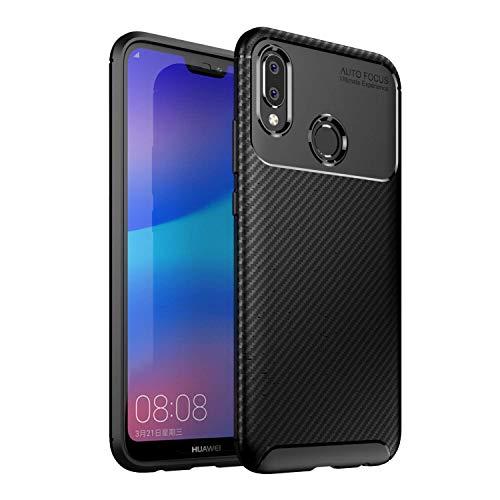 RAMCASE Funda Huawei P20 Lite Fibra de Carbono Doble Capa a Prueba de Golpes y Ralladuras con un Diseño Elegante y Excelente...
