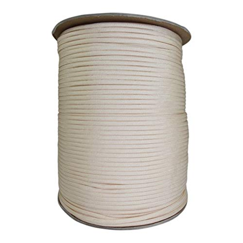 SGT KNOTS Paracord 550 Type III 7 Strand - 100% Nylon Core and Shell 550 lb Tensile Strength Utility Parachute Cord for Crafting, Tie-Downs, Camping, Handle Wraps (Cream - 10 ()