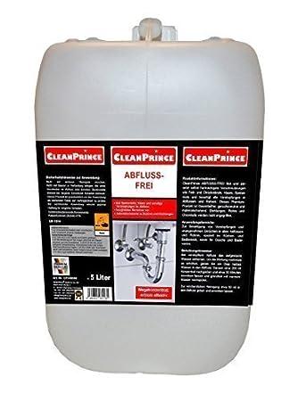 5 Liter Cleanprince Abflussfrei Rohrreiniger Rohrfrei Rohrhai