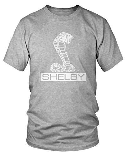 Amdesco Men's Shelby Cobra Logo T-Shirt, Heather Gray - Cobra T-shirt Logo