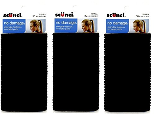 Scunci Effortless Beauty Large No-damage Elastics, 4 MM (90 pieces)