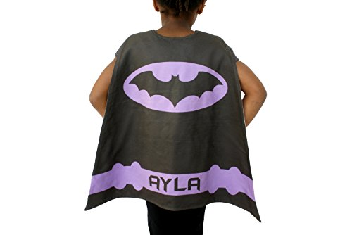 Purple Batgirl Costume Cape for Girl, Personalized Kids Batman Cape Costume, Batman Dress Up Costumes for Kids, Batman Outfit for Girls, Batwoman Superhero Cape for Kids, Batman Cape and Mask Set