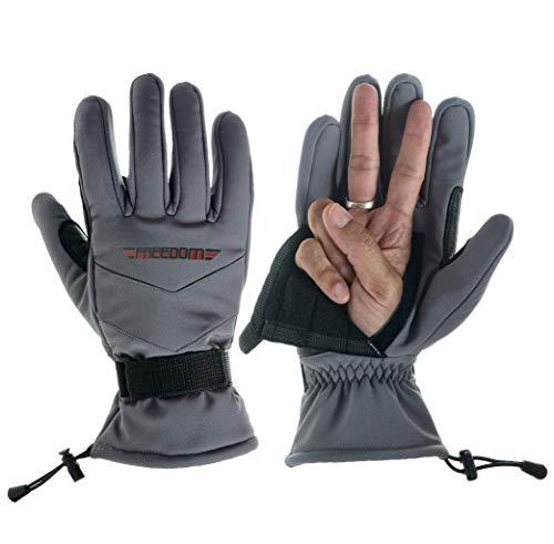 Freedom Gloves Unisex Winter Ski Glove   Snow Glove   Fingerless Glove   Hunting Glove   Snowboard Glove   (Gray, XL) (Gray Glove Ski)
