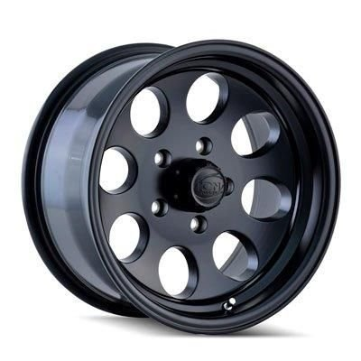Ion Alloy Style 171 Matte Black Wheel with Machined Lip (15x8/5x114.3mm) (Suv Black Machined)