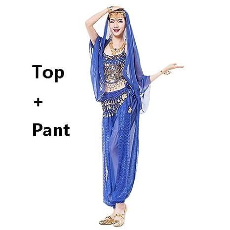 Amazon.com: Blue Stones - Disfraz de danza del vientre para ...