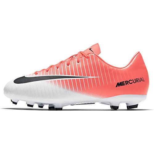 Nike Football Racer white black Fg Jr De Garçon Chaussures v Pink Iii Vortex Mercurial 1Rrw1
