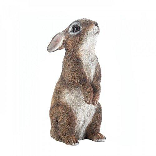 Nature Lovers Garden Bunny Statue Figurines Sculpture (Standing Bunny)