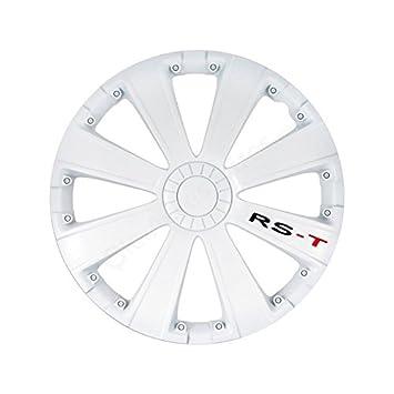 - Juego de tapacubos de ruedas de 13 pulgadas RACING RST blanco: Amazon.es: Coche y moto