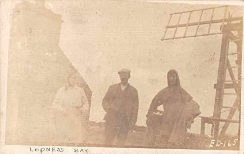 Lopness Bay Scotland People Real Photo Vintage Postcard JJ658831