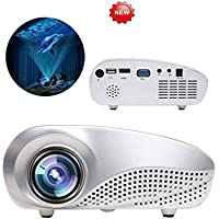 RTYou Mini Home Multimedia Cinema LED HD Projector Support AV TV VGA USB HDMI SD
