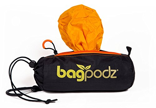 (BagPodz Reusable Bag and Storage System - Saffron Yellow (Contains 10 Bags) )