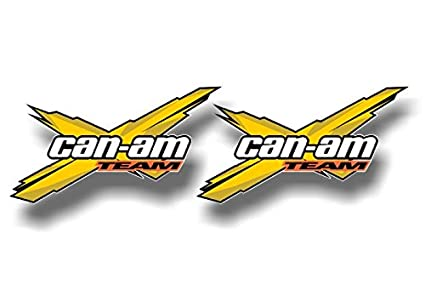 2 Team Can Am Racing Yellow 55 Decals Graphics Renegade Snorkel Kit Quad Atv Trailer Vinyl Stickers 2 3x 55 Decals Yellow