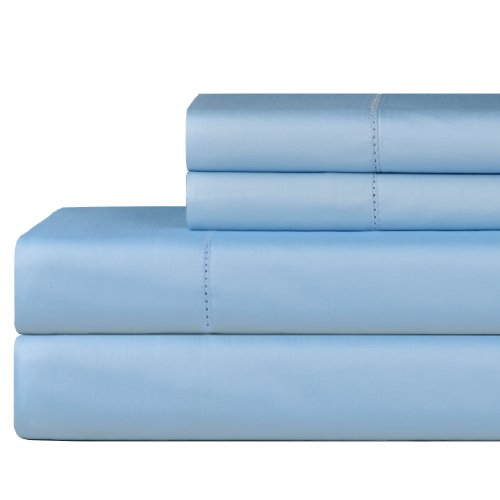 Celeste Home 610 Thread Count Pima Cotton Sheet Set, Queen, Spa Blue by Celeste Home