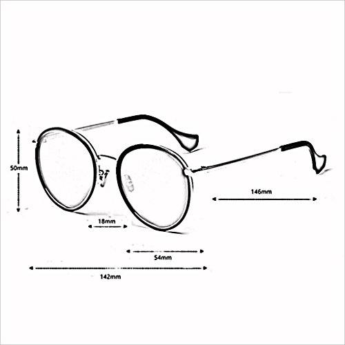 Marco Retro Gran de Espejo Sol QZ Fashion polarizadas 1 de UV 400 4 HOME Personality Drive Gafas Color q6gwf8
