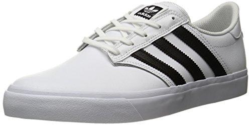 Adidas Originals Men's Seeley Premiere Fashion Sneaker, White/Black/White, 10 M US