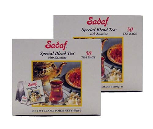 - Sadaf Special Blend Tea with Jasmine 50 T/B 3.5 oz.(Pack of 2)