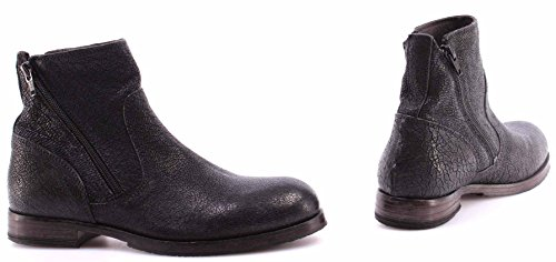 Zapatos Mujer Botines MOMA Ankle Boots 80608-Y3 Crack Black Nero Vintage Made IT
