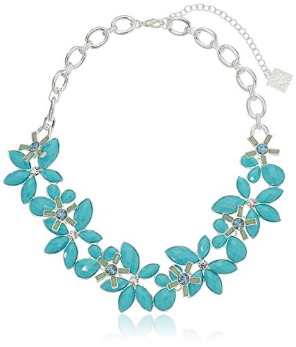 """UPC 642447054910, Anne Klein """"Petal Power"""" Gold-Tone Turquoise Color Flower Drama Necklace, , 16"""" + 2"""" Extender"""