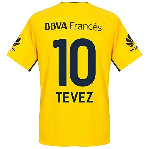 Boca Juniors Away Jersey (Boca Juniors Away Tevez Jersey 2017 / 2018 (Fan Style Printing) - L)