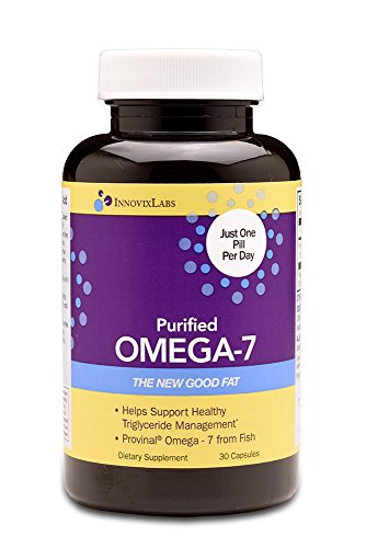 Purified OMEGA 7 (by InnovixLabs). The Healthy Fat in Fish and Macadamia. 210 mg Palmitoleic Acid Triglyceride-form Omega-7 per Pill. 30 Capsules (1 Month Supply). by InnovixLabs