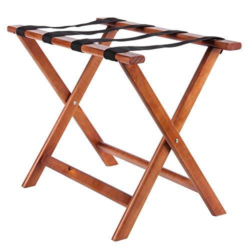 Royal Industries Luggage Rack, Hard Wood,  8 lbs, Walnut Finish