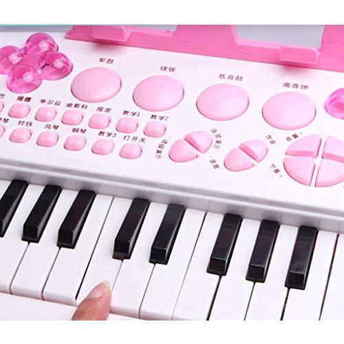 DUWEN Teclado pequeño de plástico para niños con micrófono, principiante y juguete para niña: Amazon.es: Instrumentos musicales