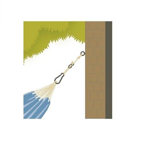 Fissaggio per amache agli alberi e pilastri LA SIESTA Allround White