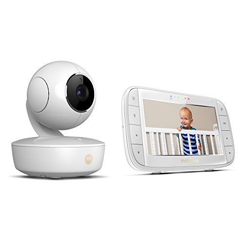 "Motorola MBP36XL Portable 5"" Video Baby Monitor with Rechargeable Camera, Remote Pan, Tilt, Zoom, Two-Way Audio, and Room Temperature Display"