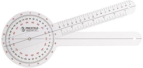 Prestige Medical Plastic Goniometer 360 Degree ISOM, 12 Inch