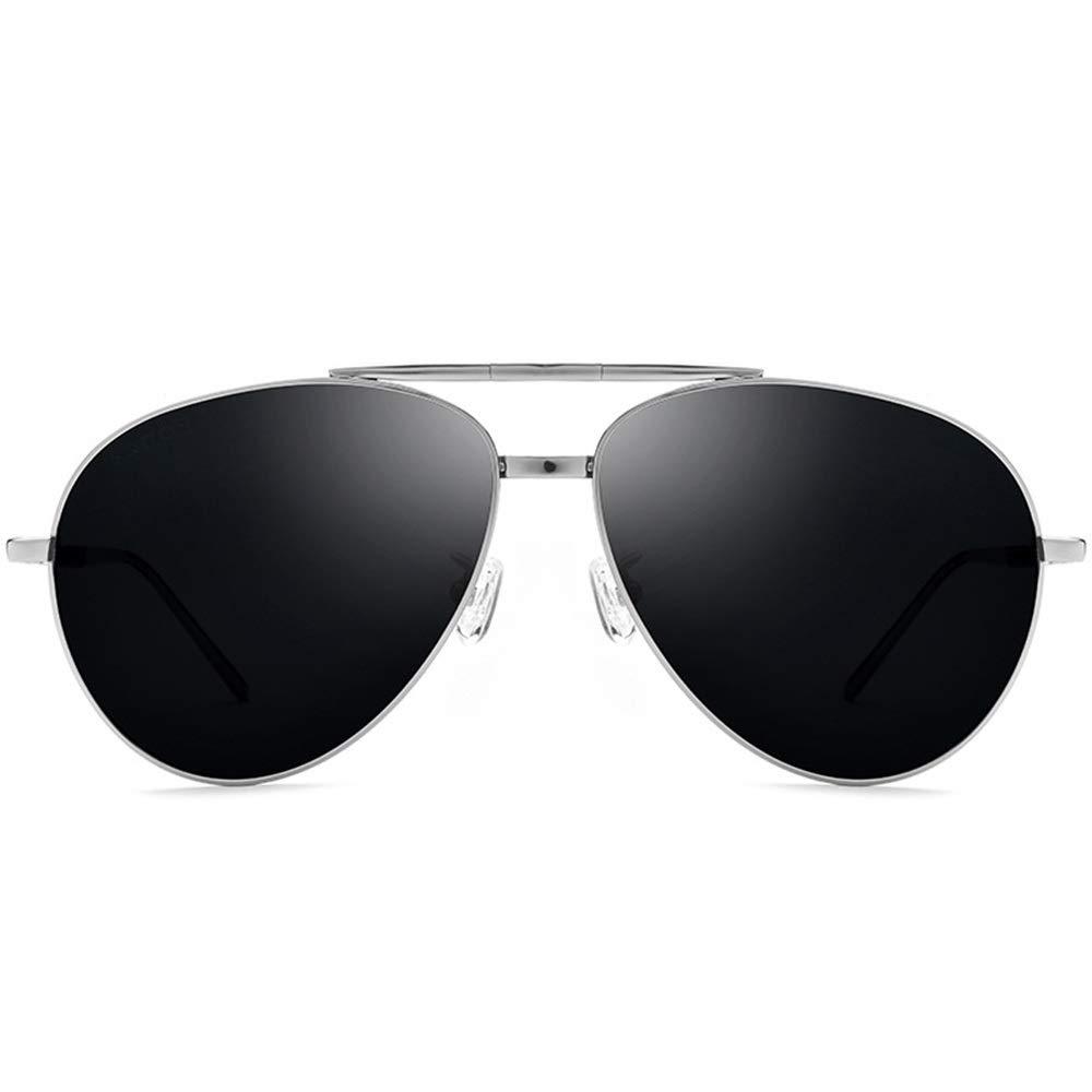 Feelyer ファッション折りたたみメガネサングラスサングラス高品質TR90材料偏光メガネuv保護放射線ハードウェアメガネ 顧客に愛されて (色 : Silver frame gray piece, サイズ : Free) Free Silver frame gray piece B07SJYSMSN