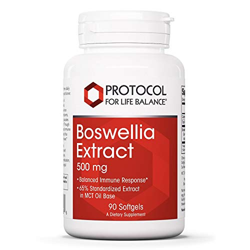 Protocol For Life Balance - Boswellia Extract 500 mg - Balanced Immune Response in MCT Oil Base, Supports Bone, Joint, and Muscle Health, Anti-Inflammatory, Pain Relief - 90 Softgels