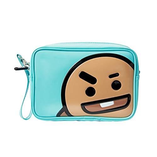 BT21 Official Merchandise by Line Friends - SHOOKY Enamel Cosmetic Bag Travel Pouch for Toiletry and Makeup