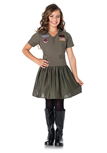 Top Gun Girls Flight Dress Child Costume - - Gun Top Costume Girl