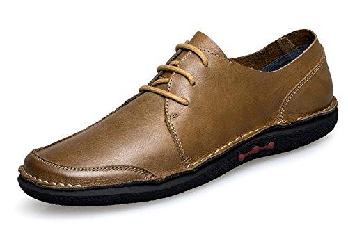 2017 nuevos zapatos ocasionales de cuero de costura hechos a mano calzan la primera capa de los zapatos de los hombres de zapatos de cuero 2