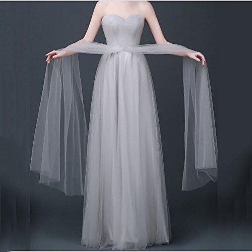 Lunghi Da Abiti Sera Elegante iShine Grigio Donna Senza Eleganti Vestito Chiaro Spalline Cocktail Cerimonia Abito UT8X4wq8