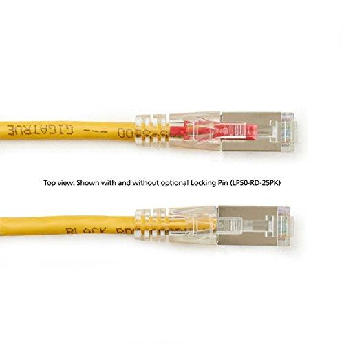 Stranded Yellow 6.0-m 20-ft. Shielded Black Box GigaTrue 3 CAT6 250-MHz Lockable Sc//FTP Backbone PVC Cable
