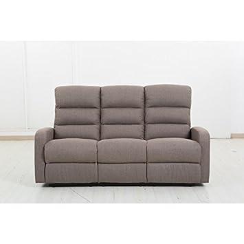 Sofá de 3 plaza con 2 plazas en relax: Amazon.es: Hogar