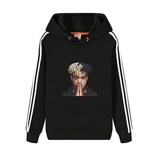 Blackwhite08 Sweatshirt Felpa Per E Con Lunga Donne Pullover Xxxtentacion Uomo Cappuccio Moda Calda Invernale Manica 6qpdywz8