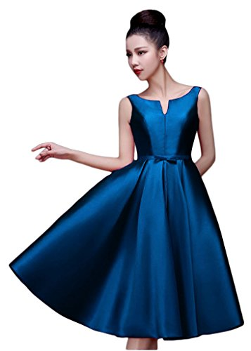 Line Gowns Short Blue Dresses Length Knee Party Women's ANGELA Dark Cocktail A A4zqEn1xwT