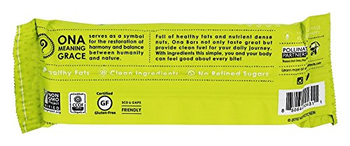 Ona - Gluten Free Organic Real Honey Treat Snack Bar Peanut Ginger - 1.9 oz.