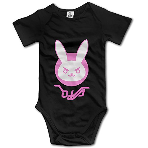 Conf Set (D.Va Rabbit Unisex Short Sleeve Bodysuit Set For Baby)