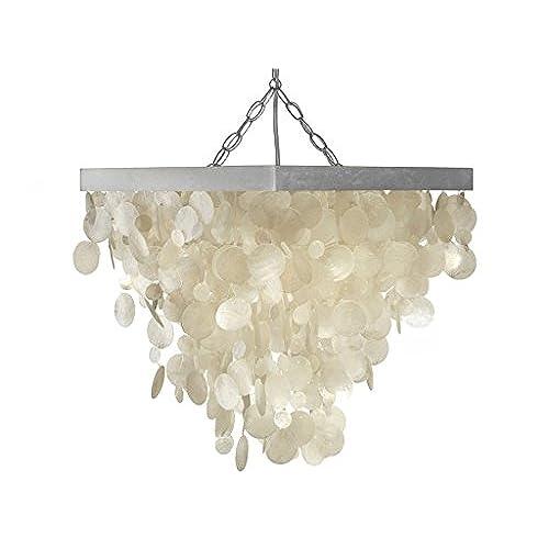 Shell chandelier amazon kouboo capiz seashell rain drop pendant lamp aloadofball Gallery
